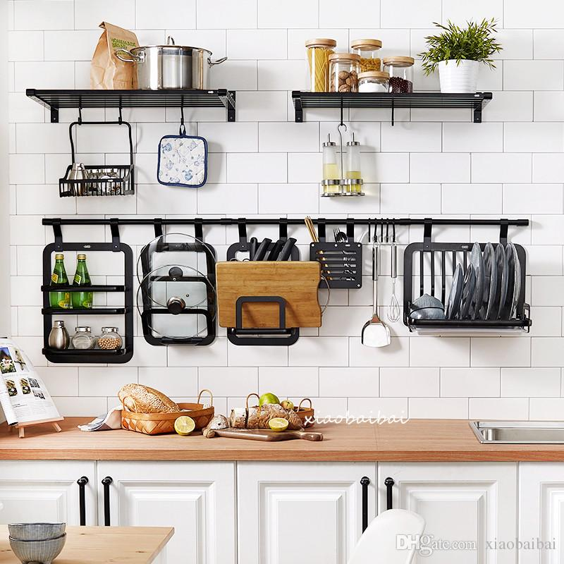 Appliquez à la cuisine l étagère Espace aluminium Porte-outil pour  assaisonnement Cadre étagère pour couteau Porte-baguettes Porte-baguette