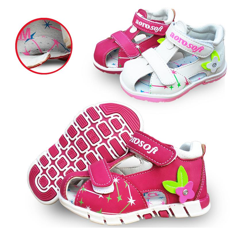 Lovely 1pair Summer Baby Arch Support Sandals Antiskid Girl Orthopedic Shoes,super Quality Kids/children Soft Sole Shoes Y19062001