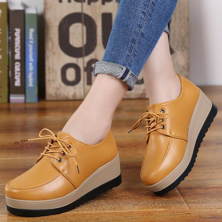 Xda 2019 Brand Autumn Spring Moccasins Sneaker Shoes Fashion Flat Platform Shoes  Women S Loafers Ladies Lace Up Single Shoe A351 Wholesale Shoes Cool Shoes  ...