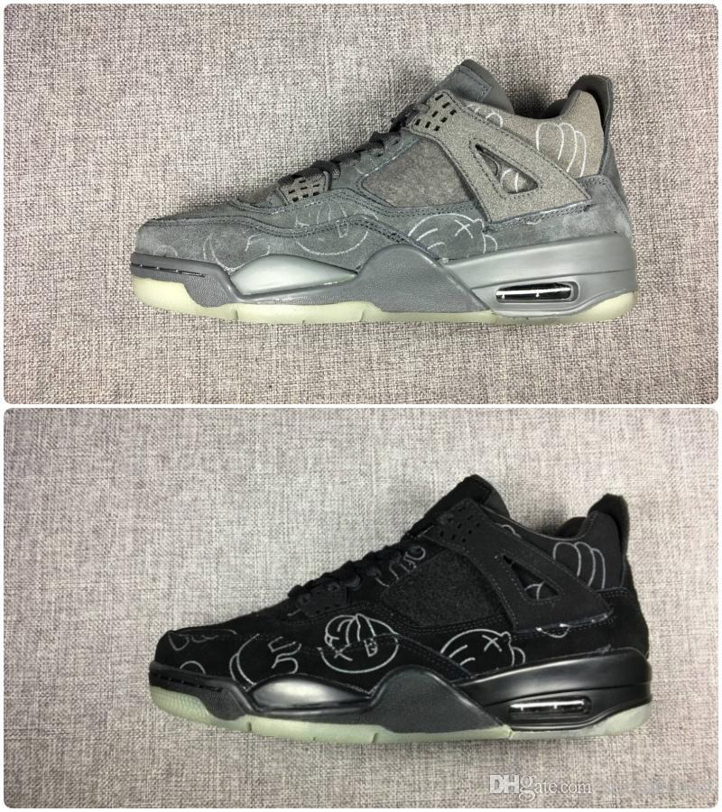 4d365cd0ef9 New 2019 Basketball Shoes 4 Classic 4s KS Cool Grey Black Suede Mens ...