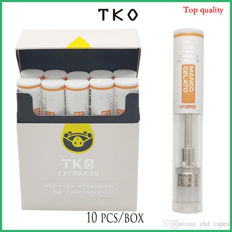 TKO EXTRACTS empty Ceramic Vaporizer vape cartridge dank vapes Holographic  package best quality no leak TK carts DHL Free Shipping