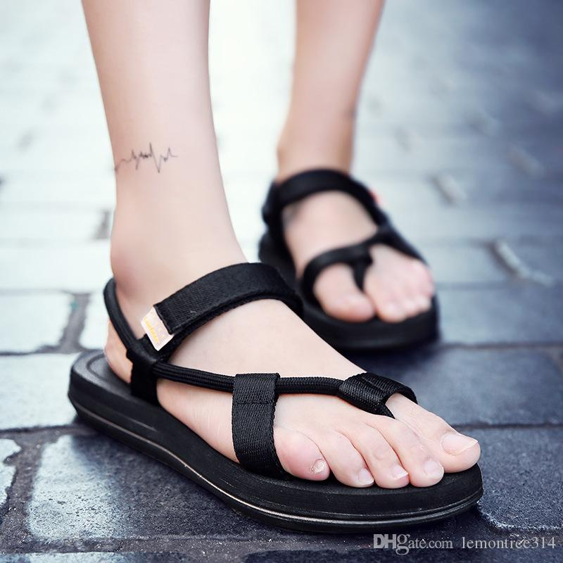 873ac5e4b9c2 Men S Beach Flip Flops Thong Sandals Casual Outdoor Shoes Male Fashion Slippers  Sandal Clip Toe Slipper Breathable Girls Sandals White Sandals From ...