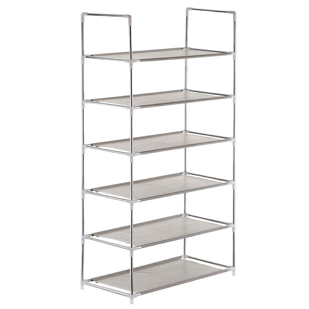 Multifunctional 4/5/6-Tier Shoe Racks Shelf Cabinet Large Stackable Shelves Holds Shelf for Shoe Book Home Storage Organizer