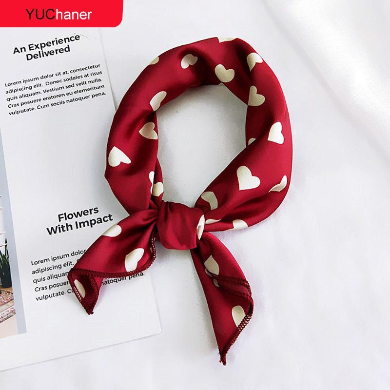 d679cf562 Compre Pañuelo Para El Pelo Corbata Estampado De Animales Rojo Amor Satén  50 Cm Pequeño   Cuadrado   Seda   Cuello   Anillo   Bufanda Bufanda De  Invierno ...