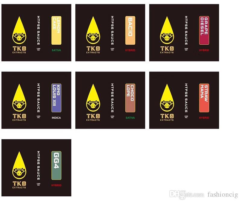 Heimelektronik Elektronische Zigaretten Zerstäuber Produktdetail Neueste schwarze Version TKO Extracts Vape Cartridge 0.8ml Ceramic Coil Th