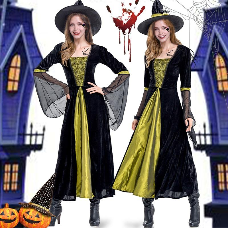 2018 Adult Green Halloween Witch Costumes For Women