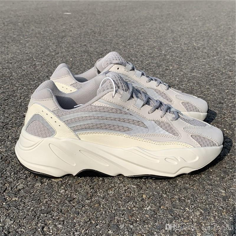 f94e8a92f 2019 Authentic 700 V2 Static Kanye West Sale White Pale Grey Mens Women  Best Quality Running Shoes Wave Runner 700s Sports Sneakers EF2829 5 11.5  From ...
