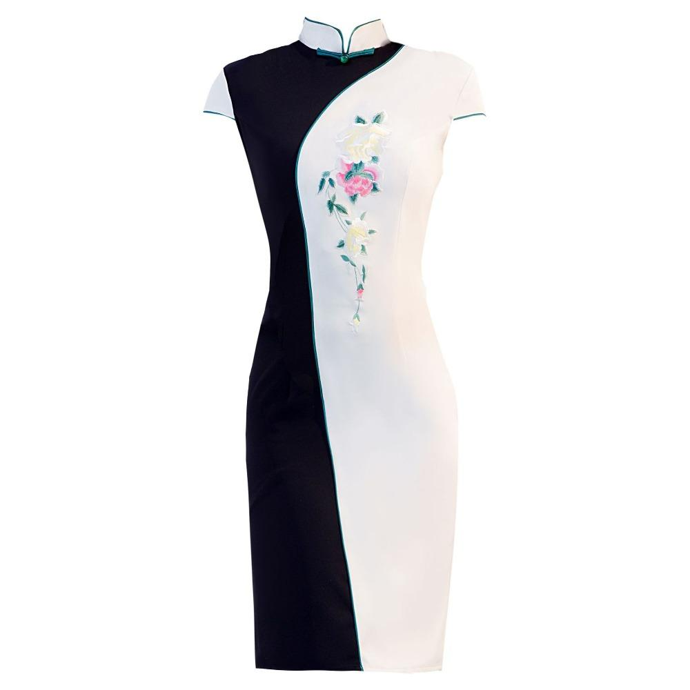 Embroidery Cheongsam Bride Marry Chinese Dress Women Modern Qipao Dresses Mini Robe Chinoise Orientale Wedding QiPao S M L XL XX