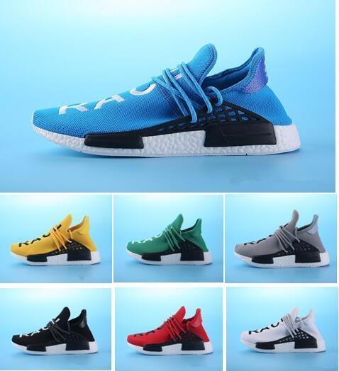 06311fa75 Human Race Hu Trail Pharrell Williams Men Running Shoes Nerd Black Cream  Holi Mens Trainers Women Designer Sports Runner Sneakers Size 5 12 Shoe  Boots ...