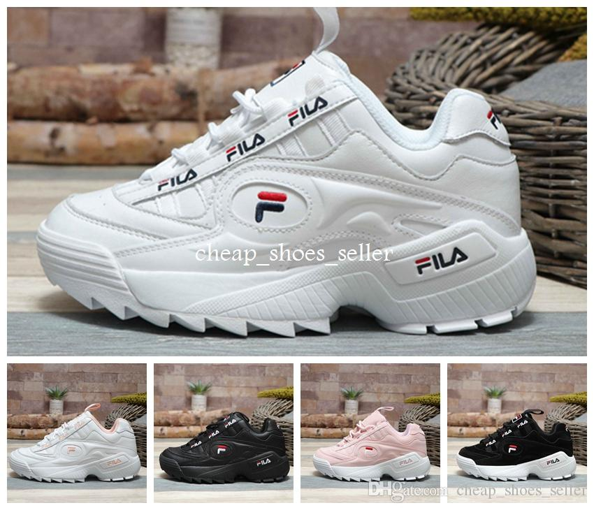 ba1c1aa14450 2019 2019 FILA New Disruptors 3 Sawtooth White Black FILAS Pink Women Mens  Designer Sports Platform Sneakers Running TrainerCasual Shoes 36 44 From ...