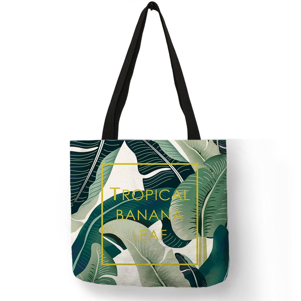 b18e4db615be Tropical Banana Leaf Printing Handbag Fashion Women Shopping Travel  Shoulder Bag Casual Accessories Bags For Daily Office Use Backpack Purse  Bags For Men ...