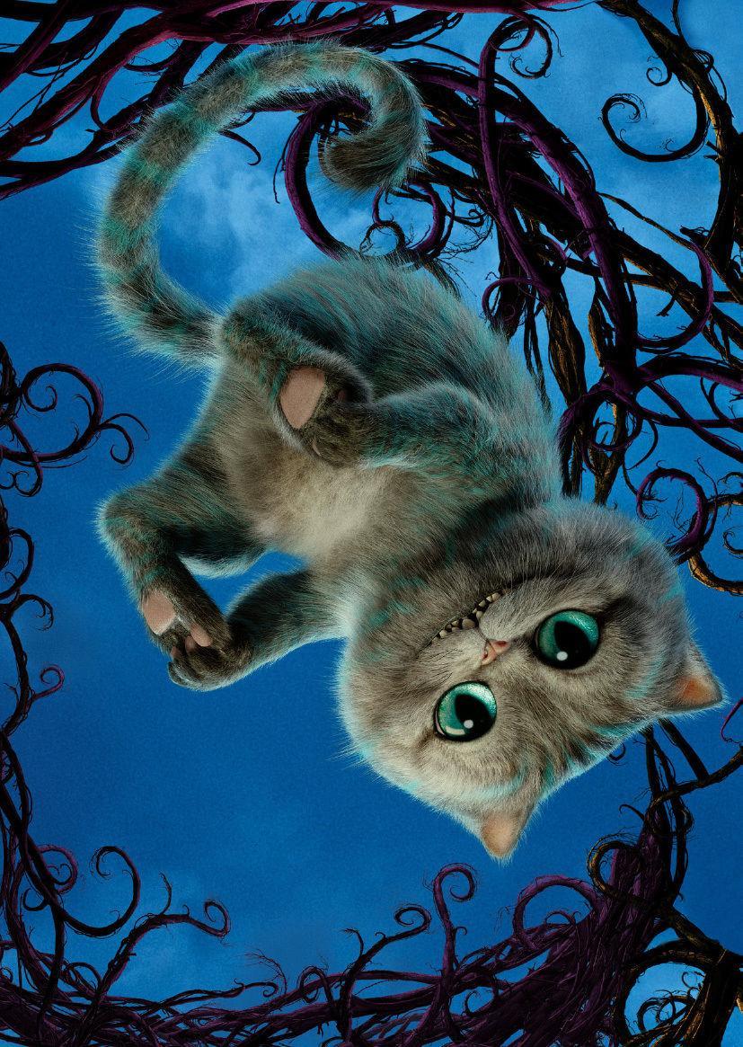 Alice In Wonderland Cheshire Cat Tattoo: 2019 Alice In Wonderland Cheshire Cat Art Silk Print
