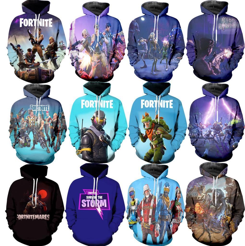 Fortnite 3D Hoodie Battle Royale Print Sweatshirt Men Women Hooded Pullover  Fortnight HipHop Hoodies Autumn Top home Clothes GGA1381