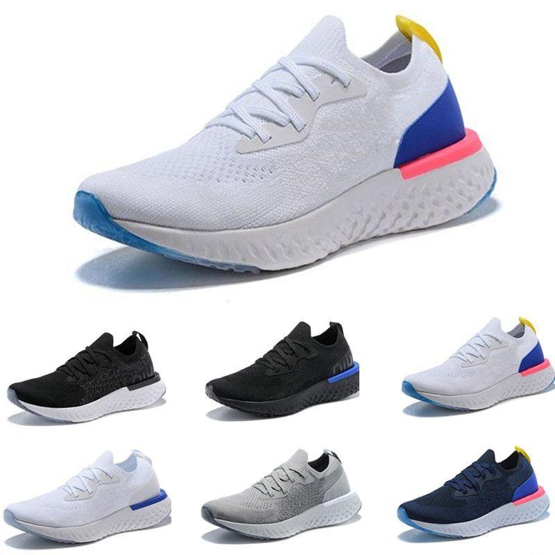 arrives 14733 01b60 Compre Nike EPIC REACT FLYKNIT 2019 Epic React Instant Go Fly Breath Hombres  Cómodos Zapatos Casuales Deportes Al Aire Libre Para Mujer Para Hombre ...