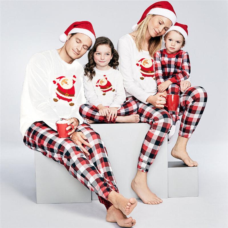 2019 Family Matching Pyjamas Set Xmas Family Match Pajamas Set New
