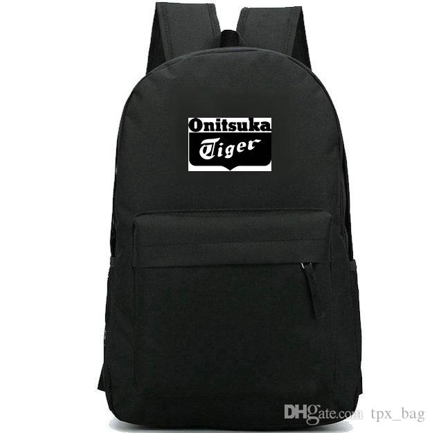 Onitsuka Tiger Backpack Cool Daypack Fashion Design Schoolbag Street  Rucksack Sport School Bag Outdoor Day Pack Drawstring Backpack Black  Backpack From ... bbeb5dccf445a