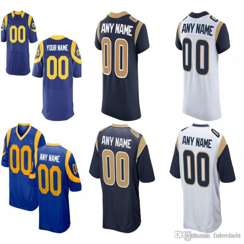 39c66ecc5 2019 Custom Men Youth Women Los Angeles Todd Gurley II Aaron Donald Jared  Goff Brandin Cooks Robert Woods C.J. Anderson Rams Elite Game Jersey From
