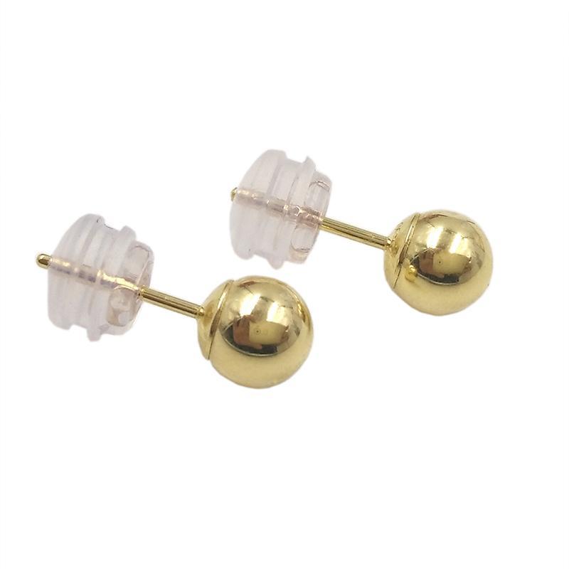 Compre Classic Minimalista Bola De Ouro 18k Bead Brinco Para Homem ... 32b0676555