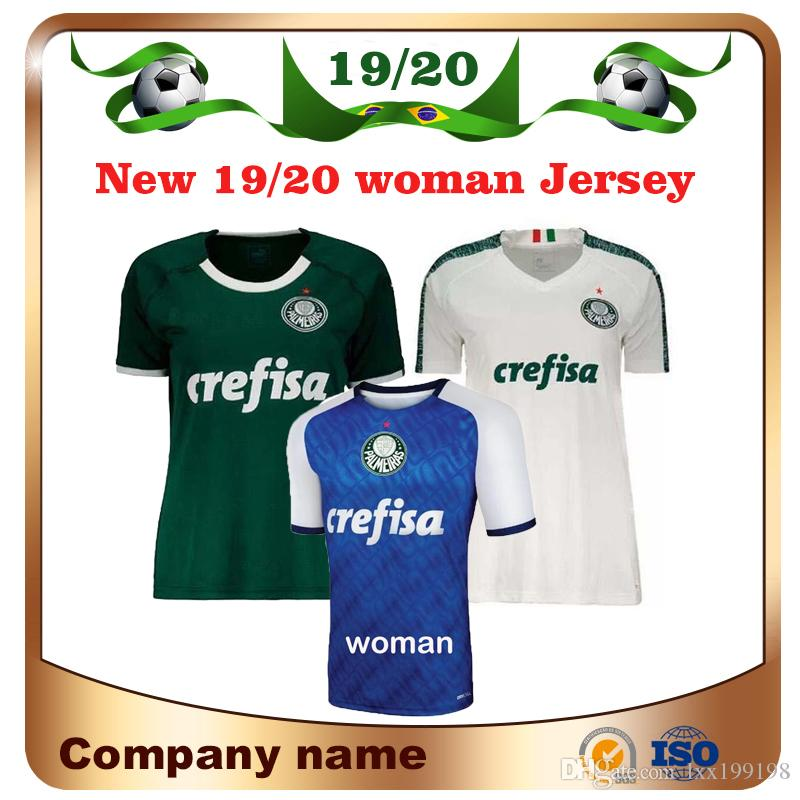 New 2019 Palmeiras Woman #10 MOISES soccer Jersey 19/20 Home green #9 BORJA Soccer Shirt Away White #7 DUDU girl football uniform