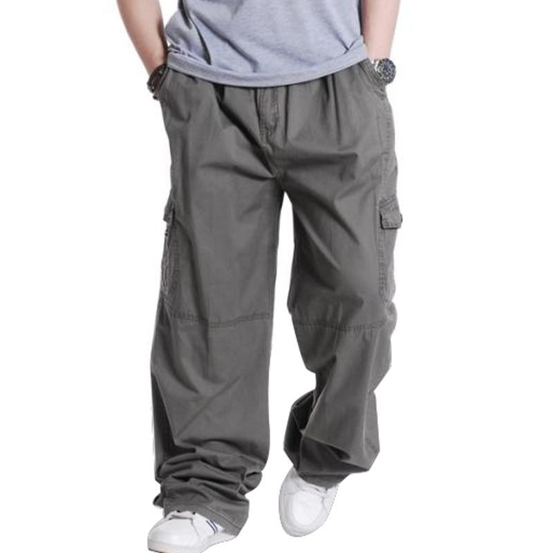 39aa0fd9358 Plus Size 3XL 4XL 5XL 6XL Trousers Casual Mens Cargo Pants Spring Male Hip  Hop Loose Men Pants Online with  48.03 Piece on Kaway s Store