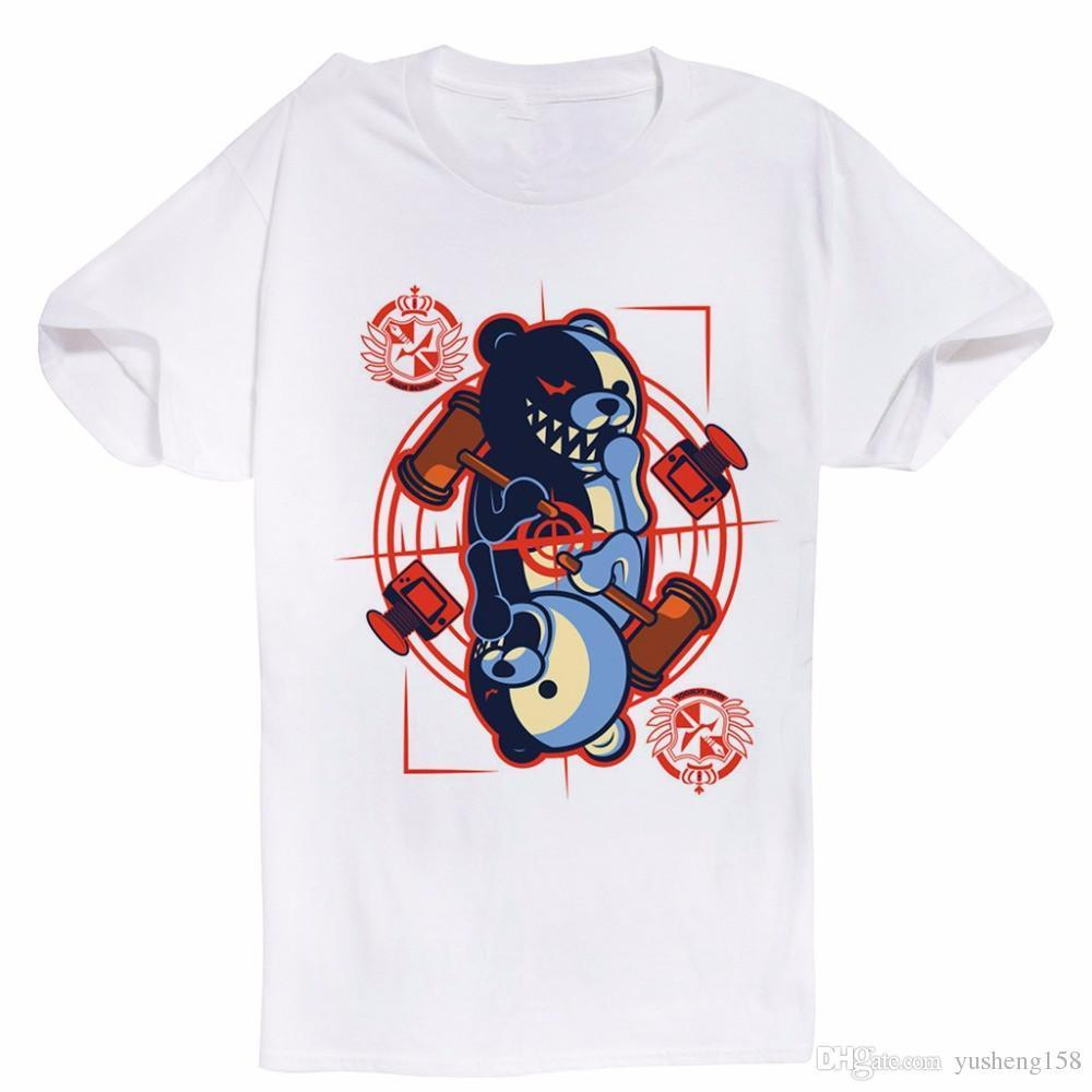 Cotton Cool Design Tee Shirts New Monokuma King Of Desperation Funny