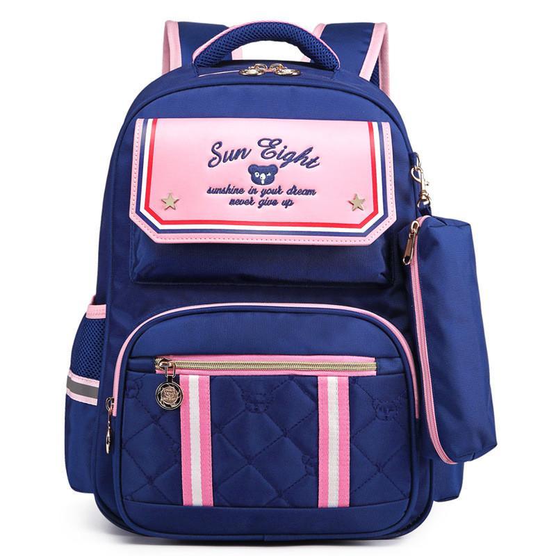 f83be627606f Nylon Waterproof Children School Bags Orthopedic Backpack For Girls Stripe  Printing School Bags For Teenagers Kids BackPack Bags For Men Toddler  Backpacks ...