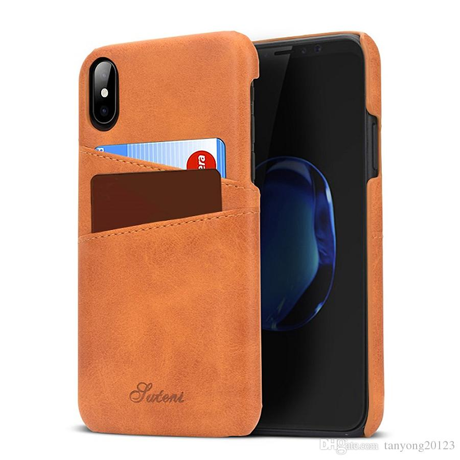 slim pu leather case for iphone 8 7 6 plus case luxury back coverslim pu leather case for iphone 8 7 6 plus case luxury back cover card holder wallet mobile phone case for iphone x retail reiko cell phone case western
