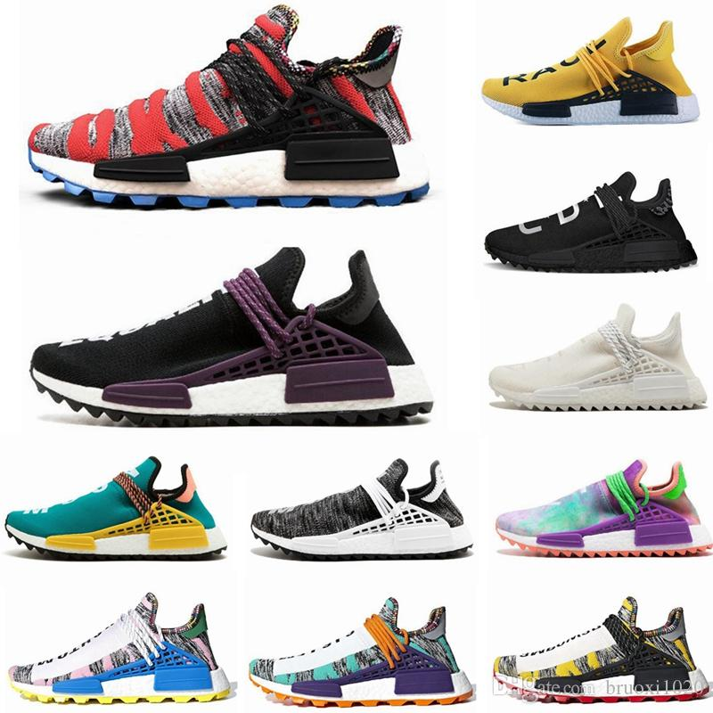 bb2be5a10 2019 NMD Human Race Hu Trail X Pharrell Williams Men Running Shoes Solar Pack  Afro Holi Blank Canvas Mens Trainers Women Sports Sneaker Running Trainers  Men ...