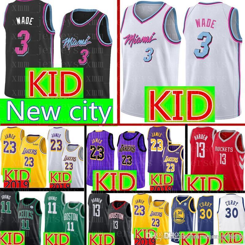 1f77e59bb00c ... inexpensive 2019 kid 3 dwyane wade jersey miami youth heat basketball  jerseys lakers 23 james 30