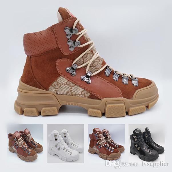 472dcdc6e58 Compre Brown Flashtrek High Top Sneaker Para Hombre Botines De Tobillo  Senderismo Botas De Escalada Zapatos Para Mujer Chunky Designer Zapatos ...