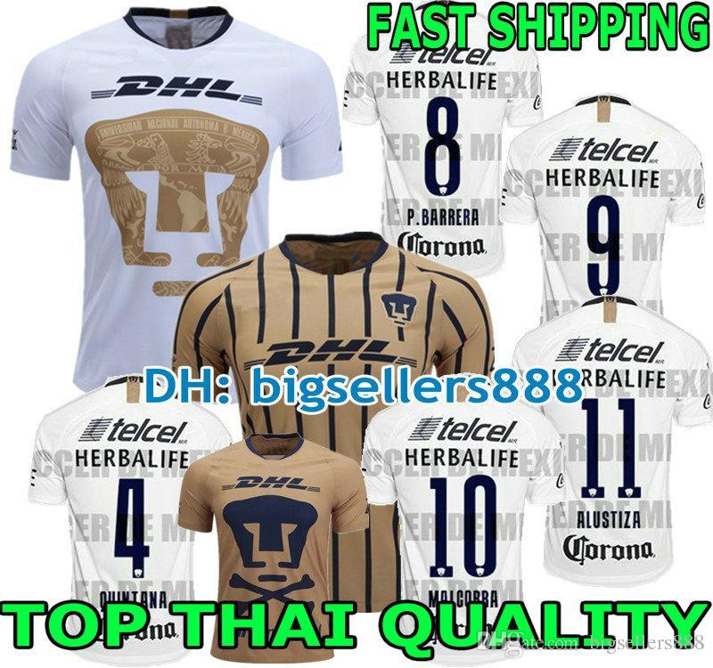 a6e36bd8444 2019 TOP QUALITY 2018 2019 UNAM PumasI Home 3RD Soccer Jersey Away Blue  Mexico Camisetas De Futbol Cougar 18 19 Football Cortes Martinez Shirt From  ...