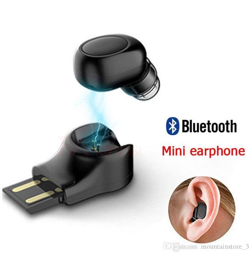 8059725c706 Auriculares De Celular Mini Auricular Bluetooth Auriculares Inalámbricos  Auriculares Estéreo Micro Auricular Oculto Con Micrófono Para IPhone X 7 ...