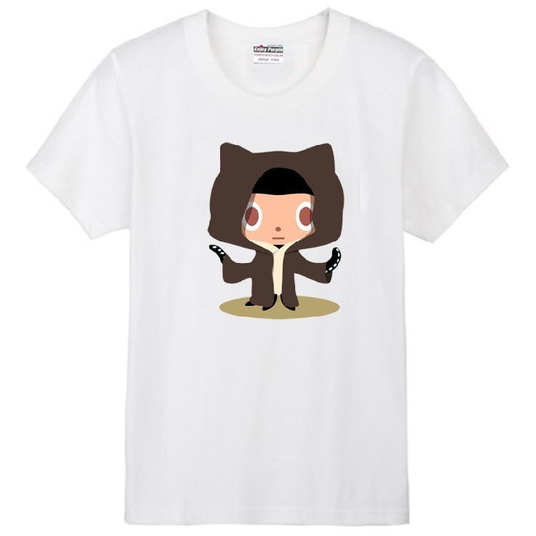 Octocat Github mascot anthropomorphized cat octopus limbs Linux Merb Ruby  couple clothes man men male cotton T-shirt