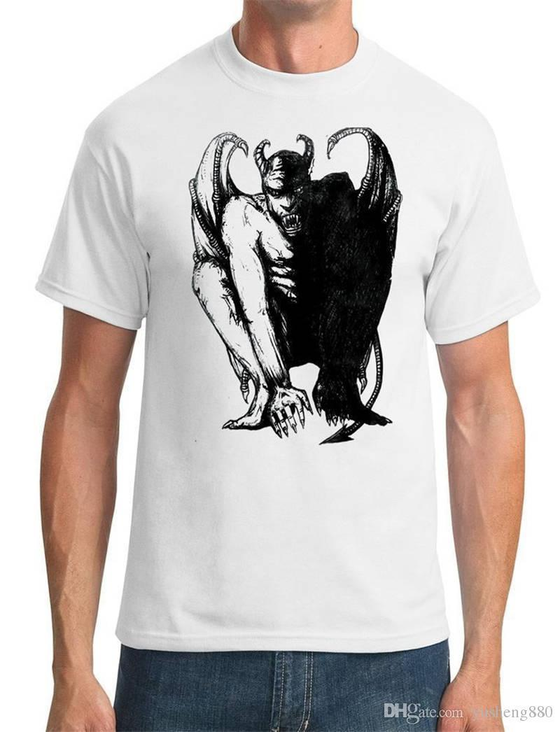 c8db057c75fb58 Style Vintage Tees Funny Short Top Devil Satan Sketch O Neck Mens T Shirt  Fun T Shirts Online Tshirt And Shirt From Jie52, $14.67| DHgate.Com