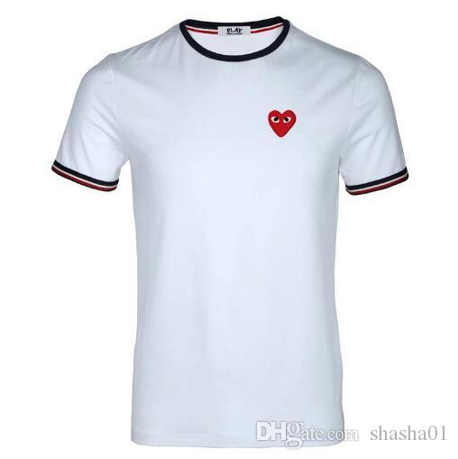 2018 luxury M design short-sleeved men's t-shirts high quality, small love t-shirts