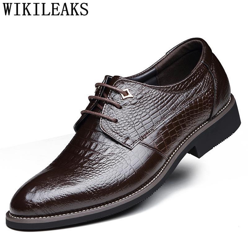 Mariage Chaussures Hombre Marque Italienne Crocodile 2018 Robe De Hommes Zapatos Calzado Vestir 8ny0vmNwO