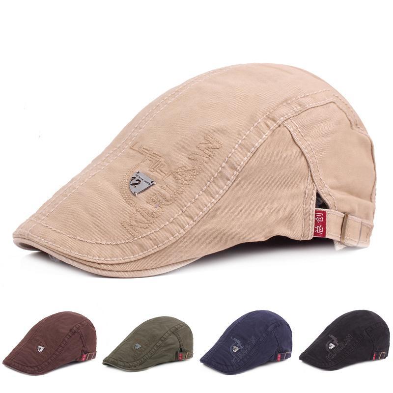 a7a4cd84 Cotton Advanced Hat Men's Beret Casual Sun Hat American Express through  Foreign Trade Cap Cap Women's Cap Hats Scarves Gloves Hats Caps Beanie  Skull Caps ...
