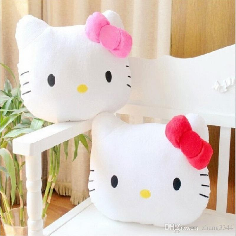 5b56fa26914 2019 Lovely Hello Kitty Plush Toys Juguetes Pillow Soft Stuffed Plush  Pusheen Cushion From Hxldollstore
