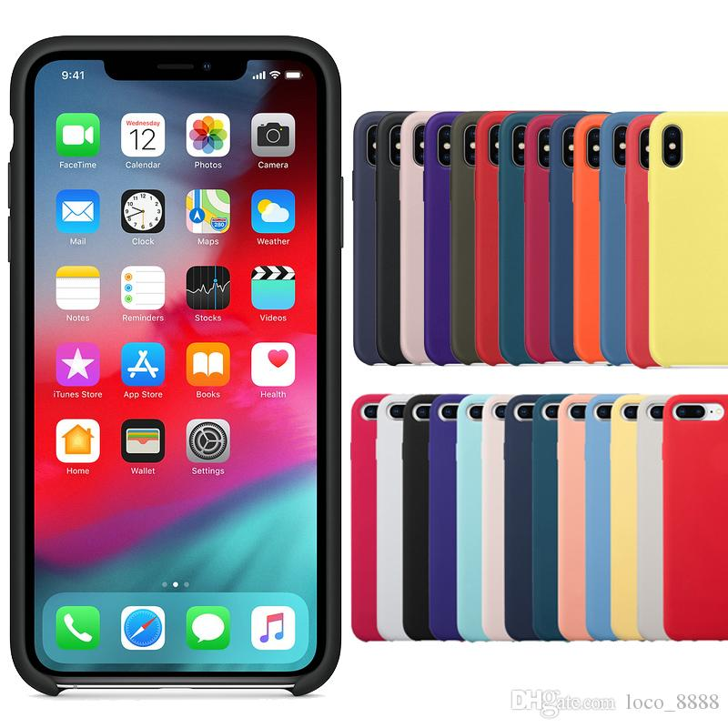 sports shoes 91498 c5919 Original Have LOGO Silicone Case For iPhone 8 7 Plus XS Max XR Cover For  iPhone X 6 s Plus Phone Cases with Retail Box