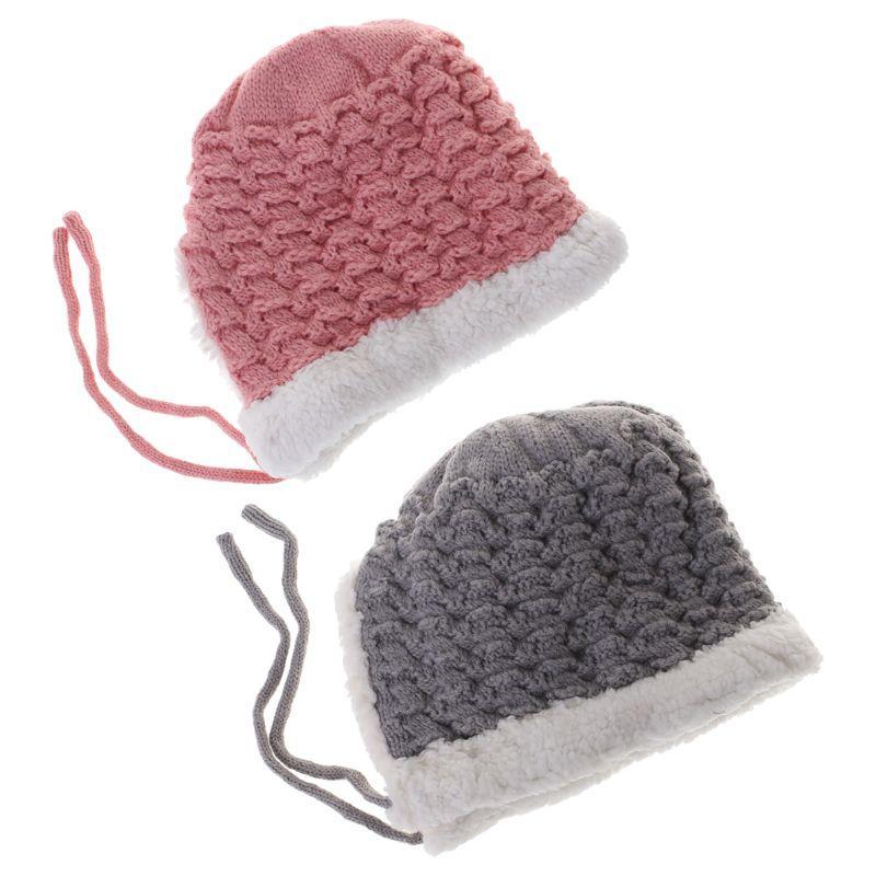 Baby Hat Woolen Warm Winter Thick Newborn Photography Clothing Cap ... e5c421bb530b