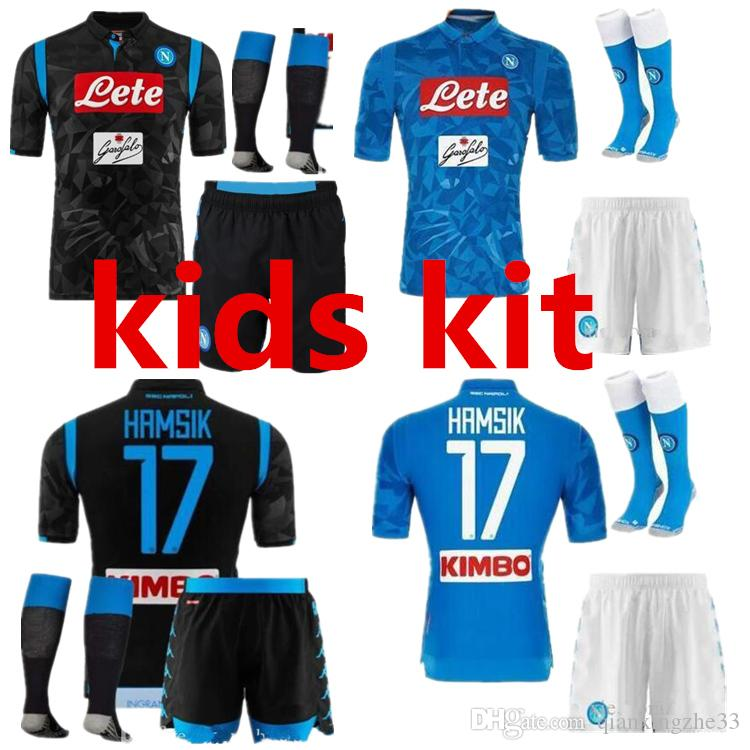 e38958343 2019 2018 2019 New Napoli Kids Kit Soccer Jersey Home Blue 1819 Top Quality ZIELINSKI  HAMSIK INSIGNE CALLEJON PLAYER Naples Football Jersey From ...