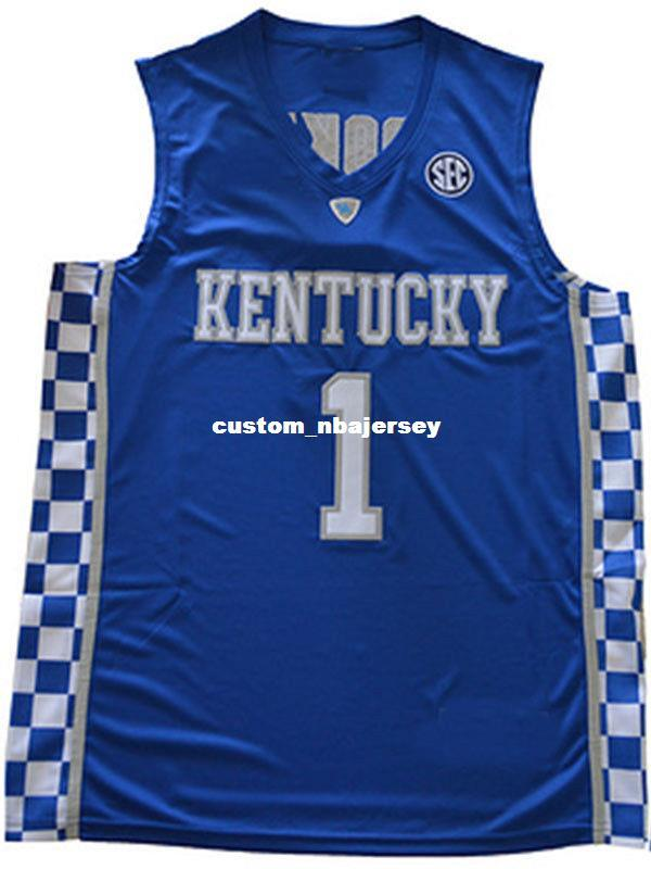 2019 Cheap Wholesale Devin Booker Jersey Kentucky Wildcats Blue White Sewn Basketball  Jersey Customize Any Name Number MEN WOMEN YOUTH From Custom nbajersey ... 2c34fae74