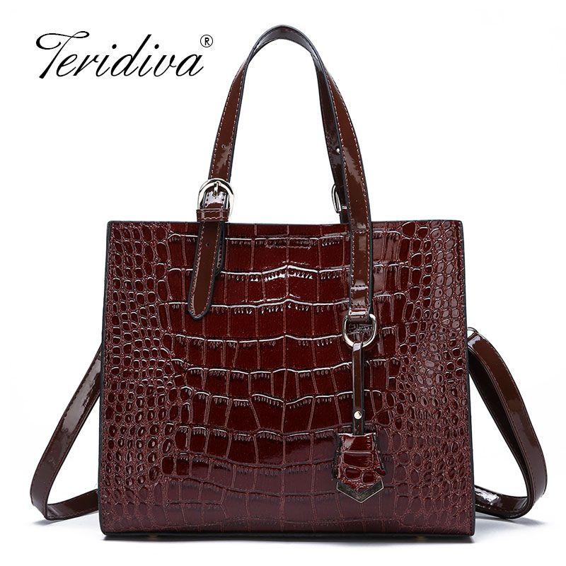 ae434a56d45c Luxury Handbags Women Bags Designer Big Tote Female Bags For Women 2019  Leather Ladies Hand Women S Crocodile Shoulder Laptop Bags For Women Duffel  Bags ...