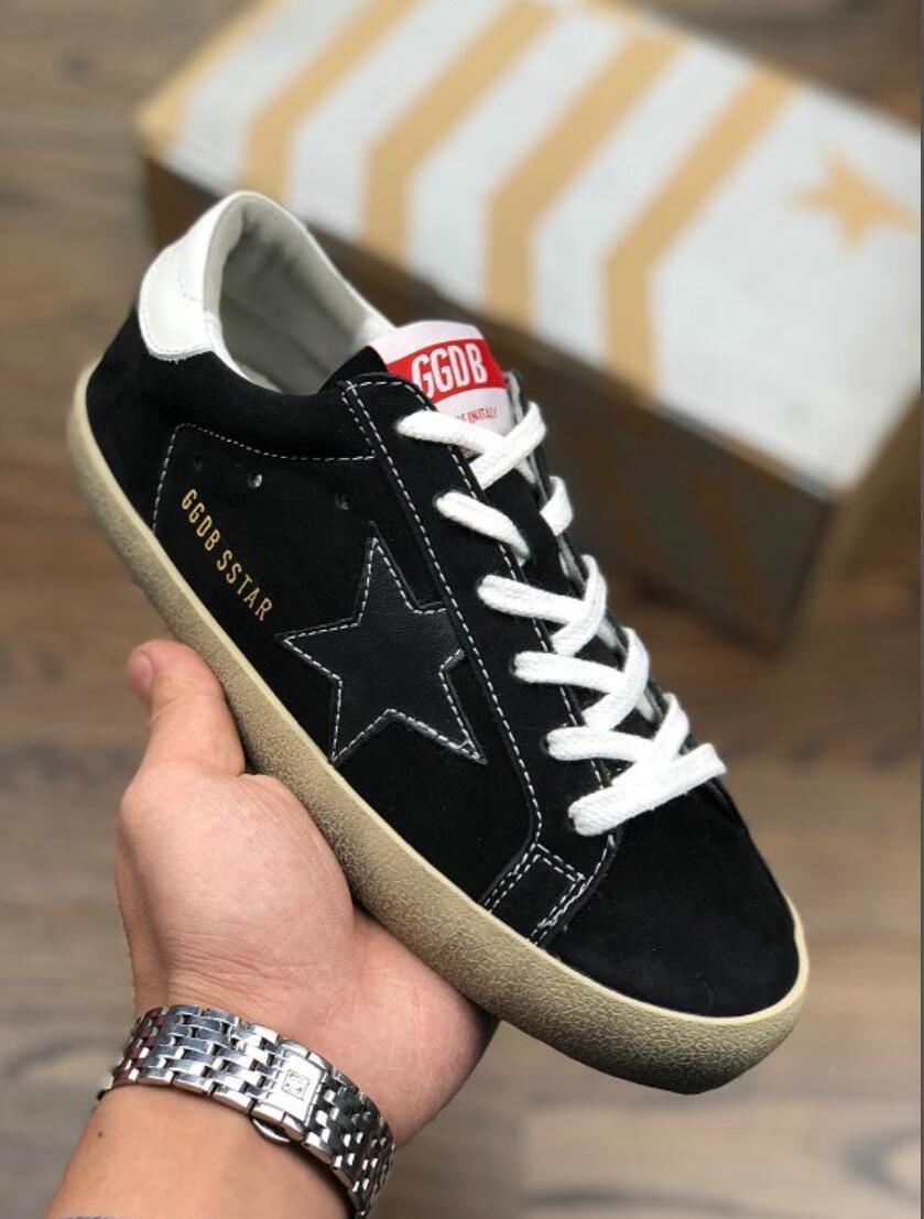 release date: 19de9 b649c Verkauf Turnschuhe Geox Wkhog Designer Schuhe für Männer Frauen 544Goldene  Gans Ggdb alten schmutzigen Stil Turnschuhe Schwarz Weiß Echtes Leder ...