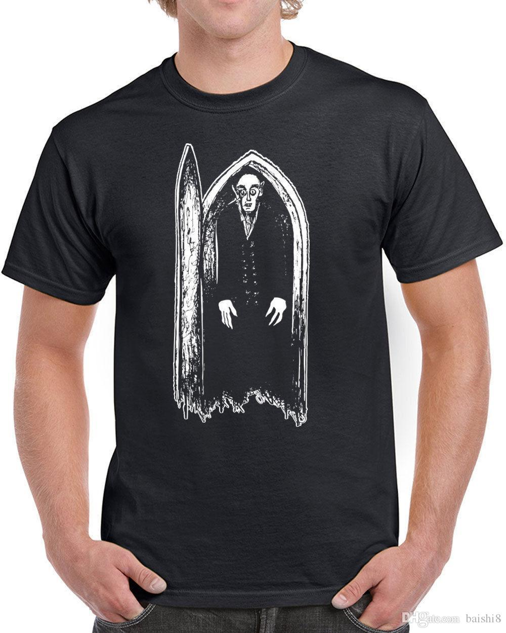 Nosferatu Mens T-shirt Scary Movie Vampire Horror Villain Classic Silent  New 100% Cotton Letter Printed T Shirts Top Tee