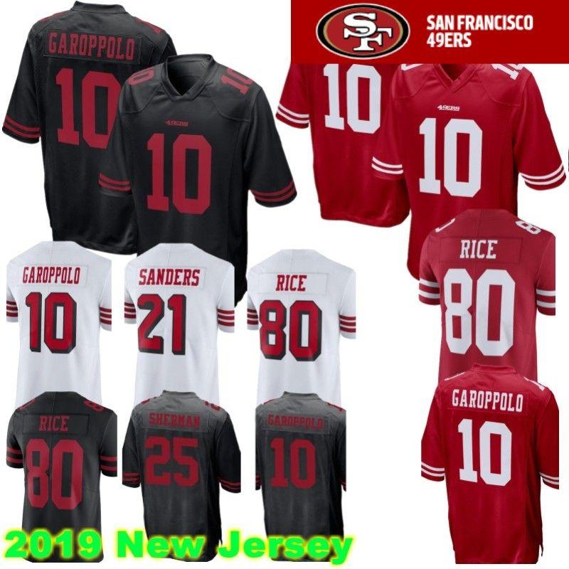 newest a1482 80d09 10 Jimmy Garoppolo San Francisco Jersey 49er 10 Jimmy Garoppolo 25 Richard  Sherman 56 Reuben Foster 16 Montana 53 Bowman Sander Jerseys