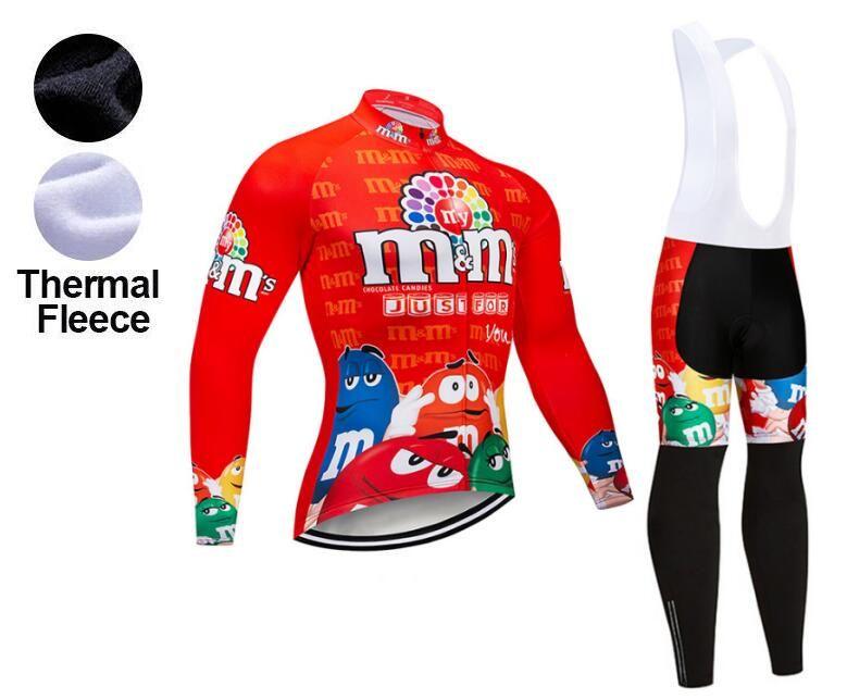 2019 Winter TEAM New Funny Red Thermal Fleece Cycling JERSEY Bike ... 427b1b89f