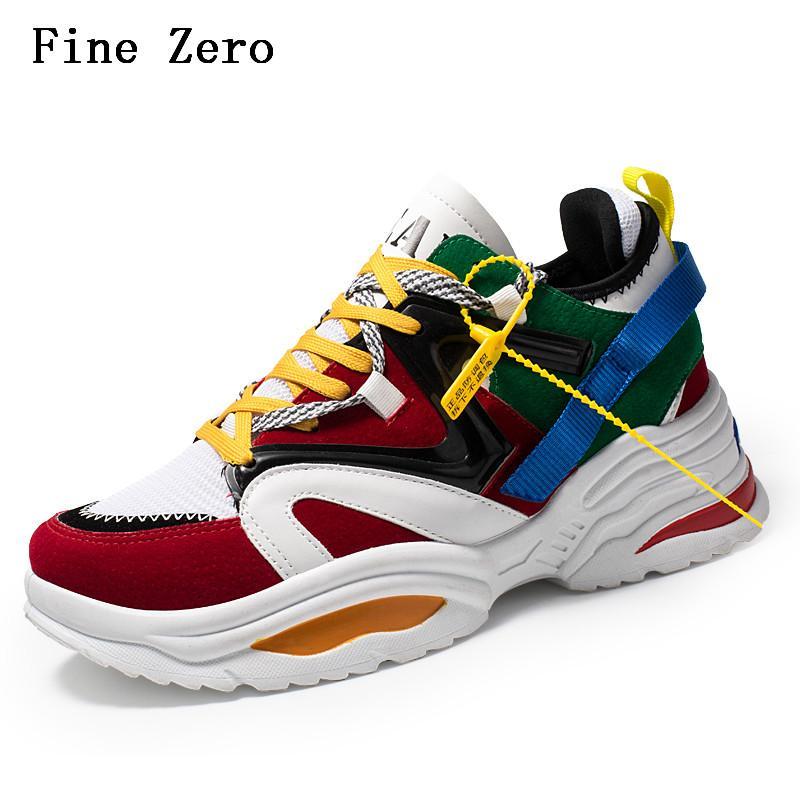 3d6ec39c7de Fine Zero Vintage Dad Men Shoes 2018 Kanye Fashion West Mesh Light  Breathable Men Casual Shoes Sneakers Zapatos Hombre Boat Shoes For Men Navy  Shoes From ...