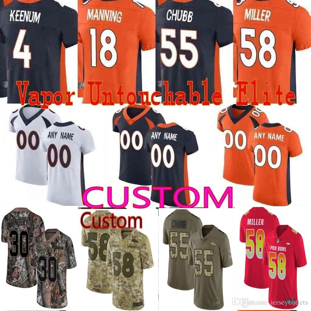 newest 3720a 666d6 custom Men Youth women 30 Phillip Lindsay 58 Von Miller 55 Bradley Chubb  Case Keenum John Elway Camo Realtree Broncos Elite Jersey 01