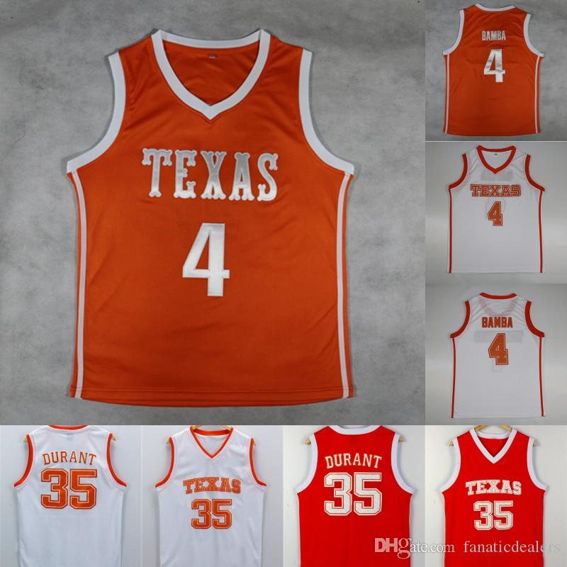 9aae935ac39d 2019 Mohamed Bamba Mo Jersey Texas Longhorns  35 Kevin Durant Texas College  Basketball Jersey Stitched Men NCAA Jersey From Fanaticdealers
